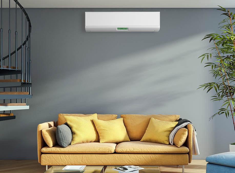 A/C Unit In A Living Room